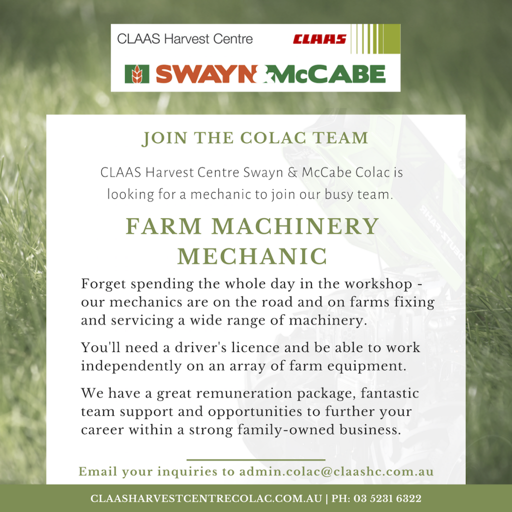 Colac farm machinery