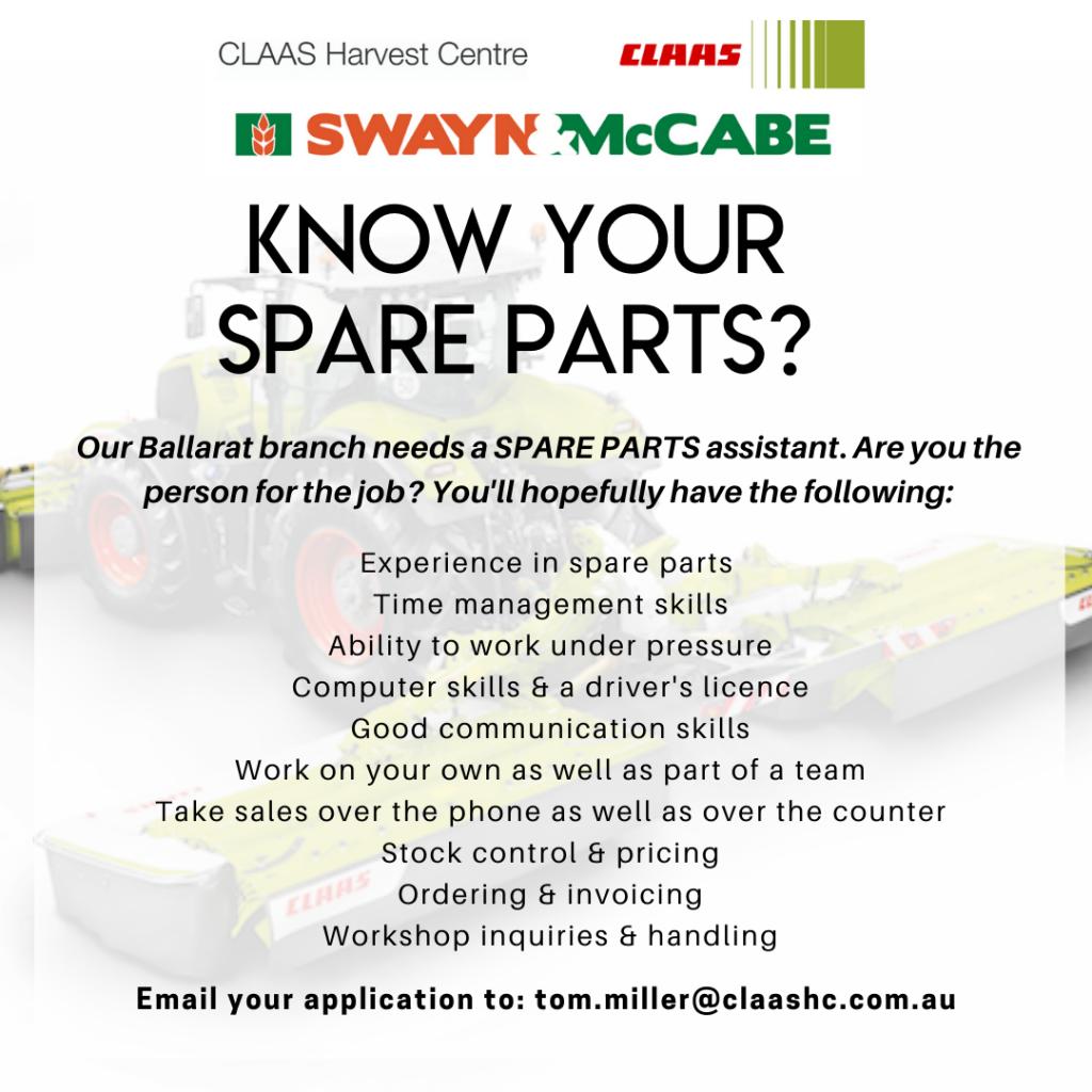 Spare parts Ballarat